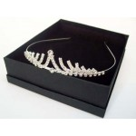 Venus Tiara Silver Diamante - Bridal Hair Accessories - 001T