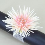 Wrist Corsage Peach Flower and Crystal - WCOR025