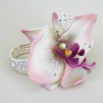 Wrist Corsage Vintage Purple Orchid and Diamante - WCOR003