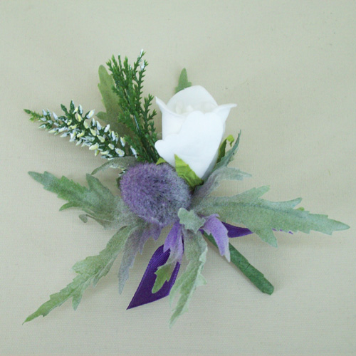 Thistle And Heather Buttonhole Adec02aa